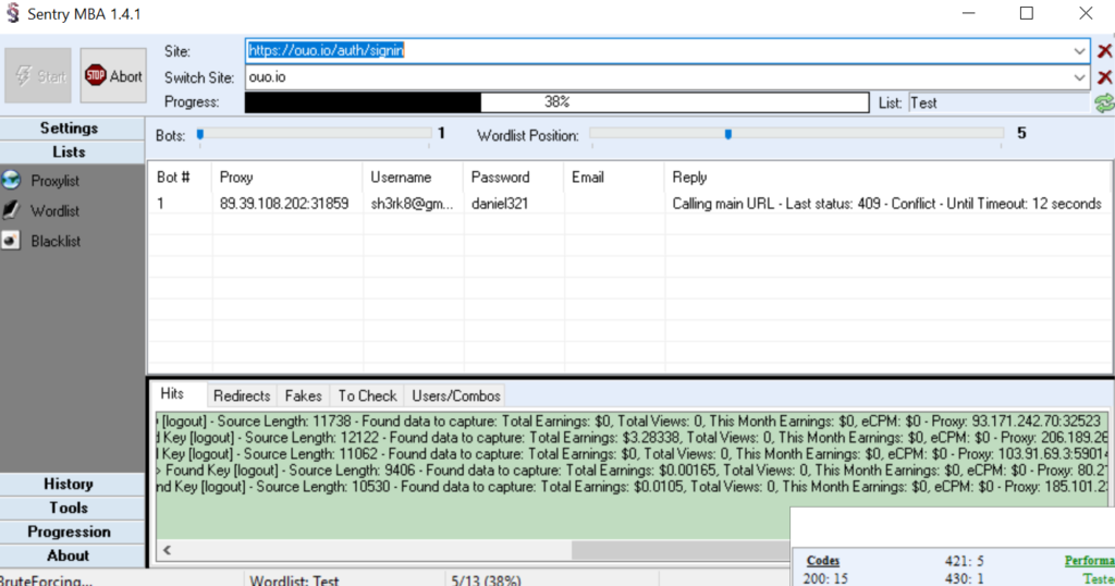 Ouo io Config For Sentry MBA | PJ