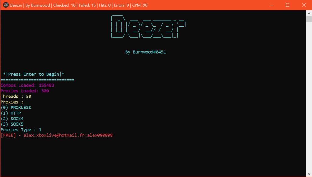 Latest Deezer Checker By Burnwood | PJ