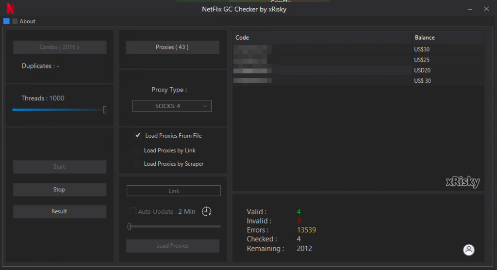 NEW NETFLIX GC GENERATOR AND CHECKER BY XRISKY | PJ