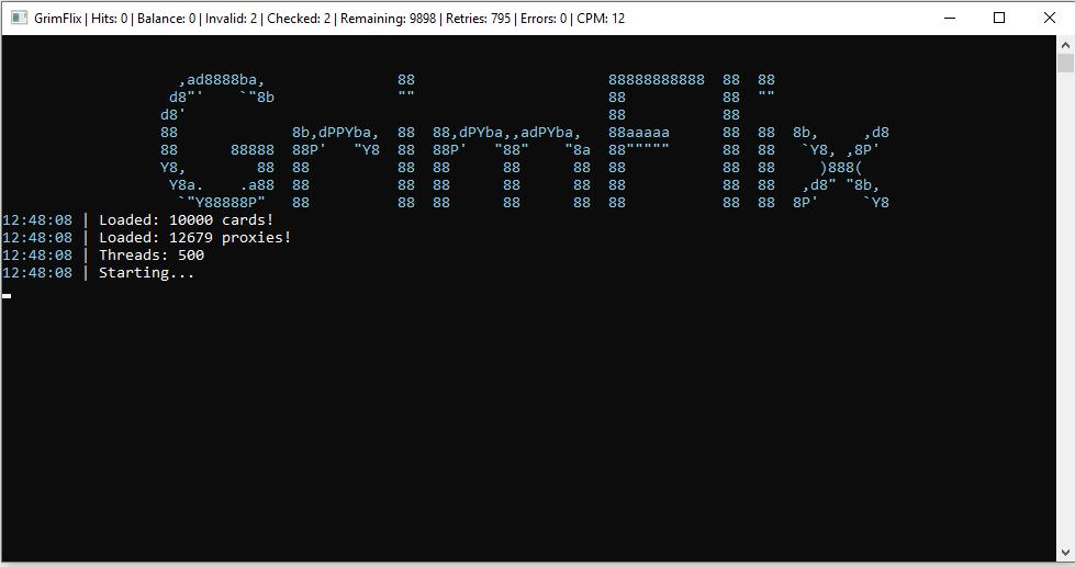 GRIMFLIX BY KECA NETFLIX GIFT CARD CHECKING SUITE CRACKED CRANK